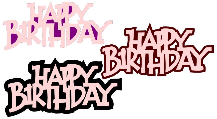 Download Happy bday | Svg free files, Free svg, Cricut birthday
