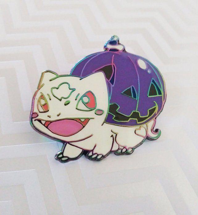 Halloween Bulbasaur Glow-in-the-dark Pin made by SlyBonsai -