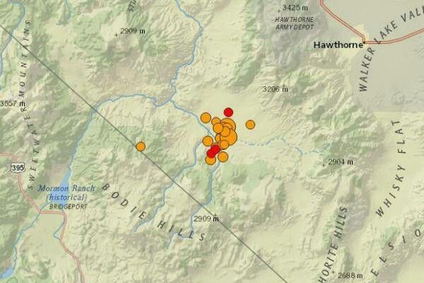 3 magnitude-5.5+ earthquakes strike Nevada near Cali. http://ow.ly/elVa100wGgq #RingOfFire #NaturalDisaster #WrathOfGod #DisasterPreparedness
