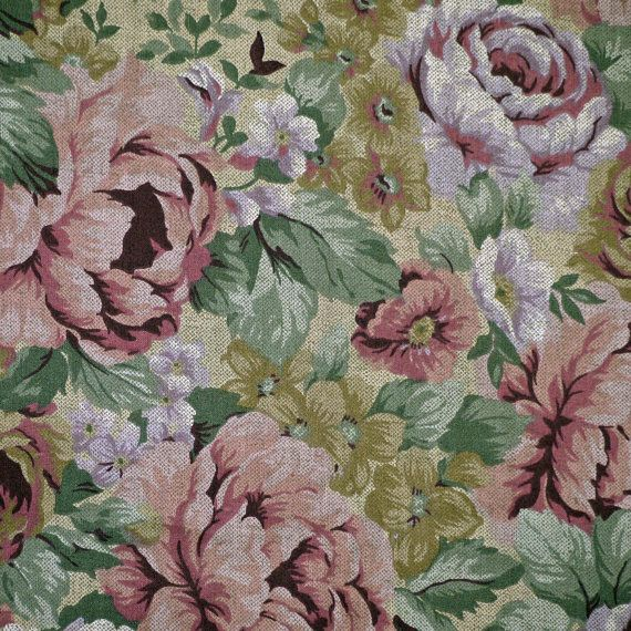 1 Yard of  Cranston Pink Roses Fabric