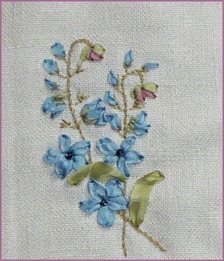 Silk ribbon embroidery free patterns