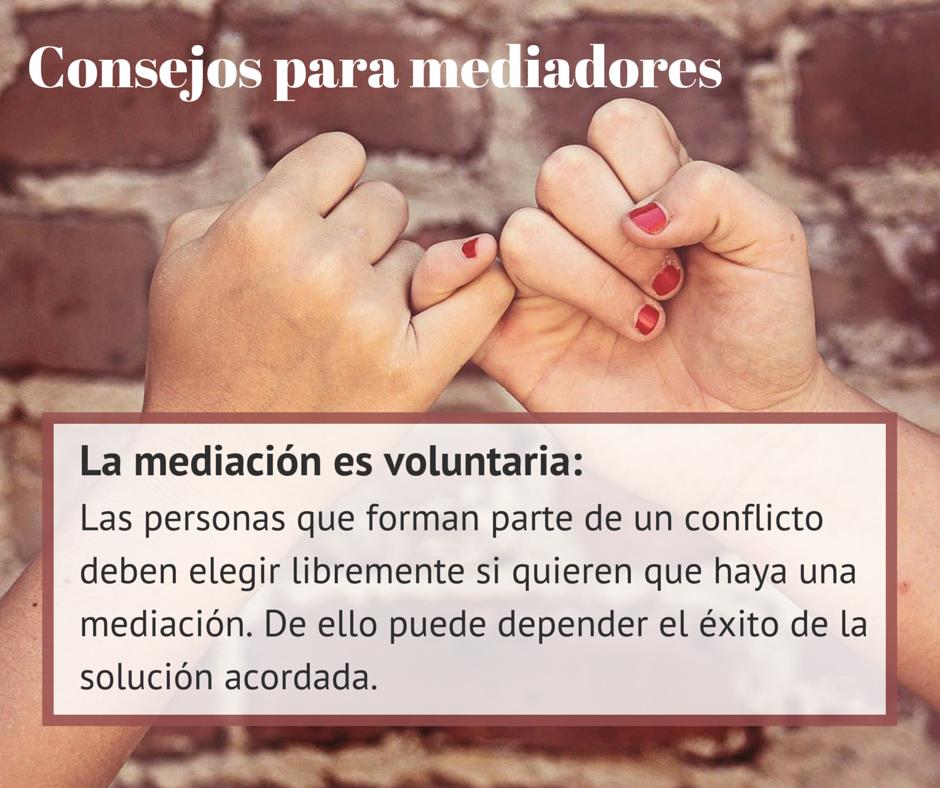 #Consejos para #mediadores: ¿Es voluntaria la #mediación? Para que funcione, ¡debe serlo! http://www.cedeco.net/mediacion/