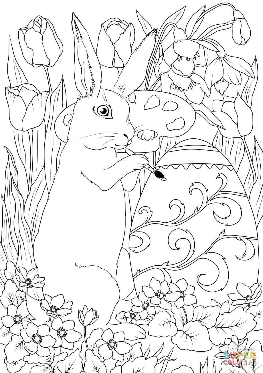 Supercoloring Easter Background