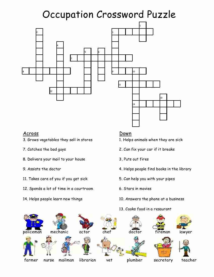 Empowered By THEM Occupation Crossword Puzzle