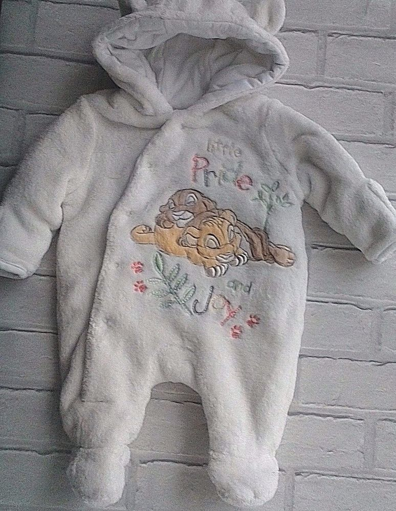 2df8bd9fb Disney Store Lion King Cream Fleece Snowsuit Newborn 56cm