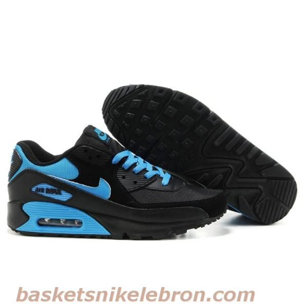 super popular bff6d 14148 Cheap Original Nike Air Max 90 Mens Premium Trainers Black And Blue Shoes  Outlet UK Store
