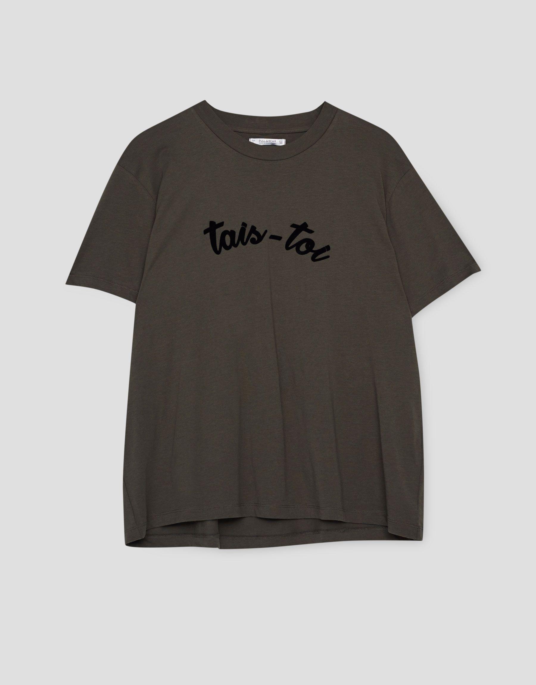 Maglietta testo - Magliette - Abbigliamento - Donna - PULL&BEAR Italia