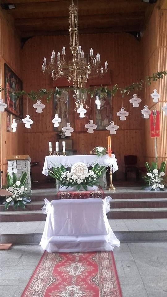 Styropianowe Aniołki Z Imionami Dzieci Do Dekoracji Kościoła
