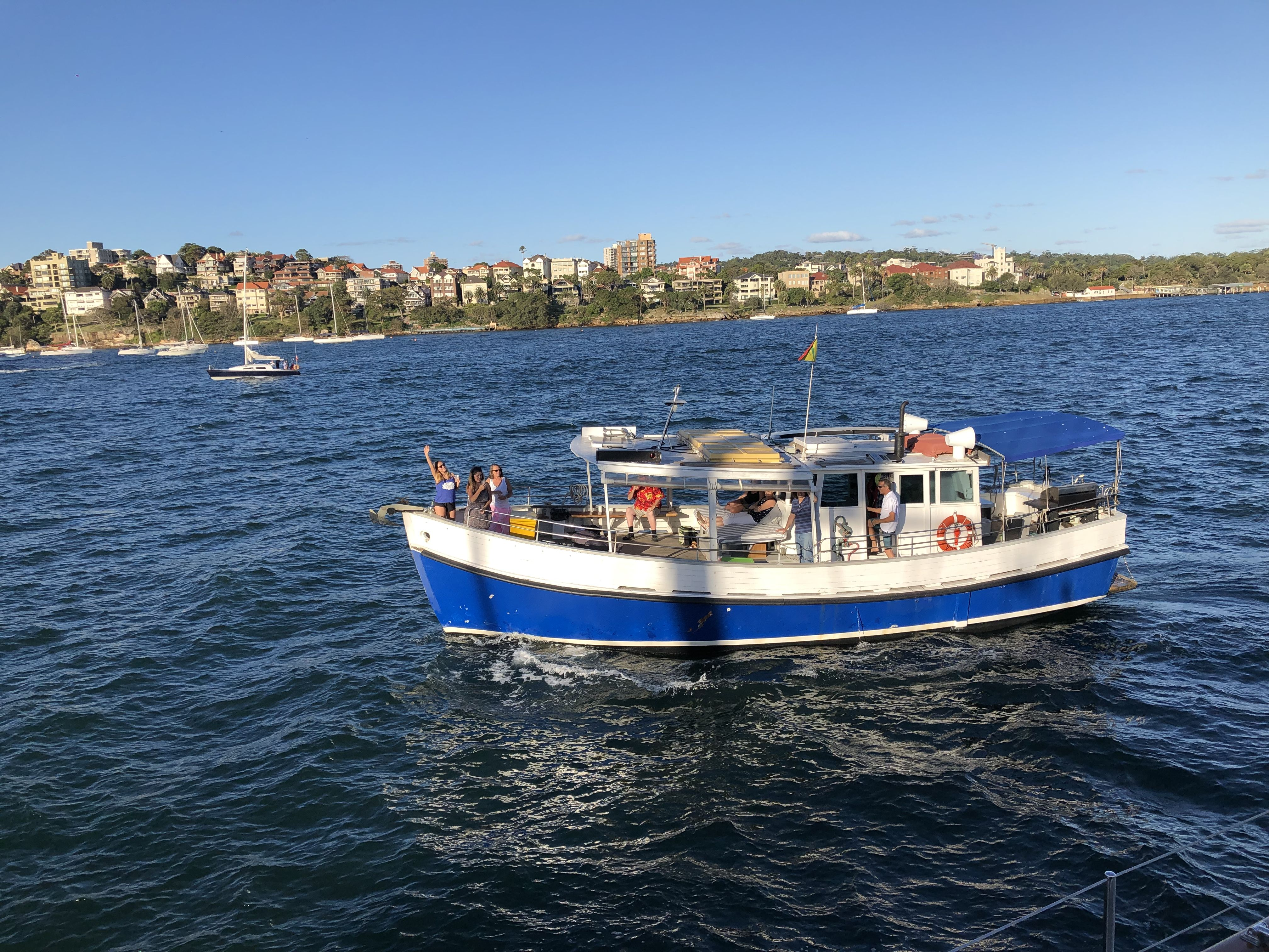 42ft party boat available for hire in sydney australia