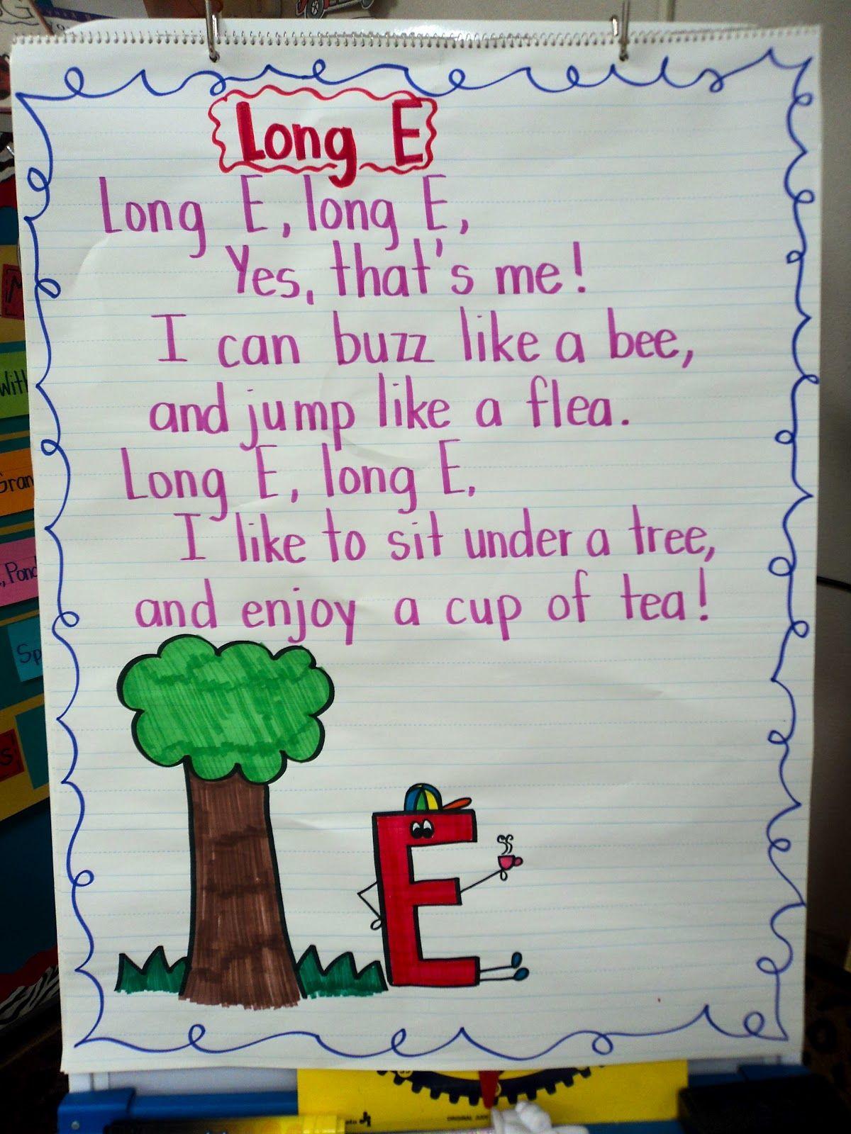 Anchor Chart: Long E | School - Spelling/Phonics | Pinterest ...