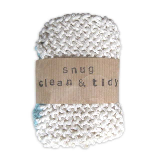 Knitted dishcloth packaging idea