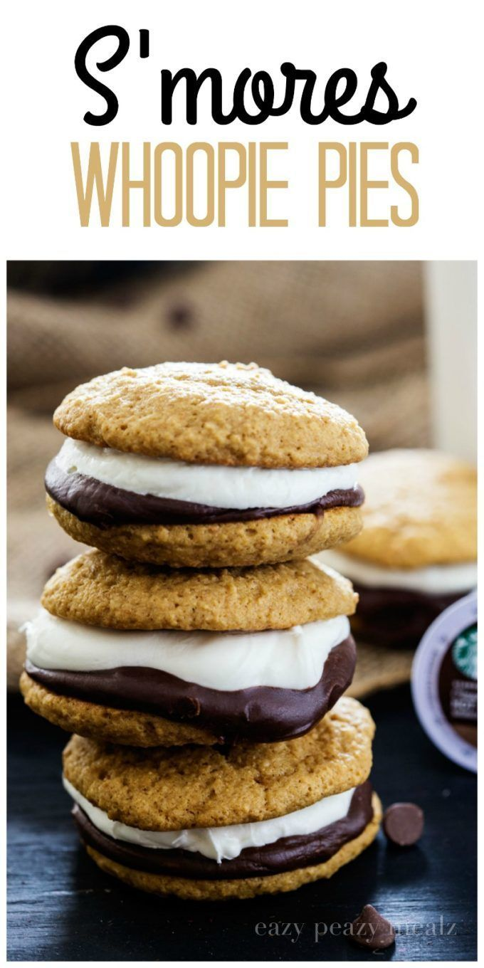 S'mores Whoopie Pies,  S'mores Whoopie Pies,