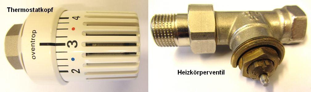 Das Thermostatventil Auch Thermostat Oder Thermostatisches