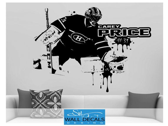 Carey price vinyl wall decal sticker montreal by funnyandsticky