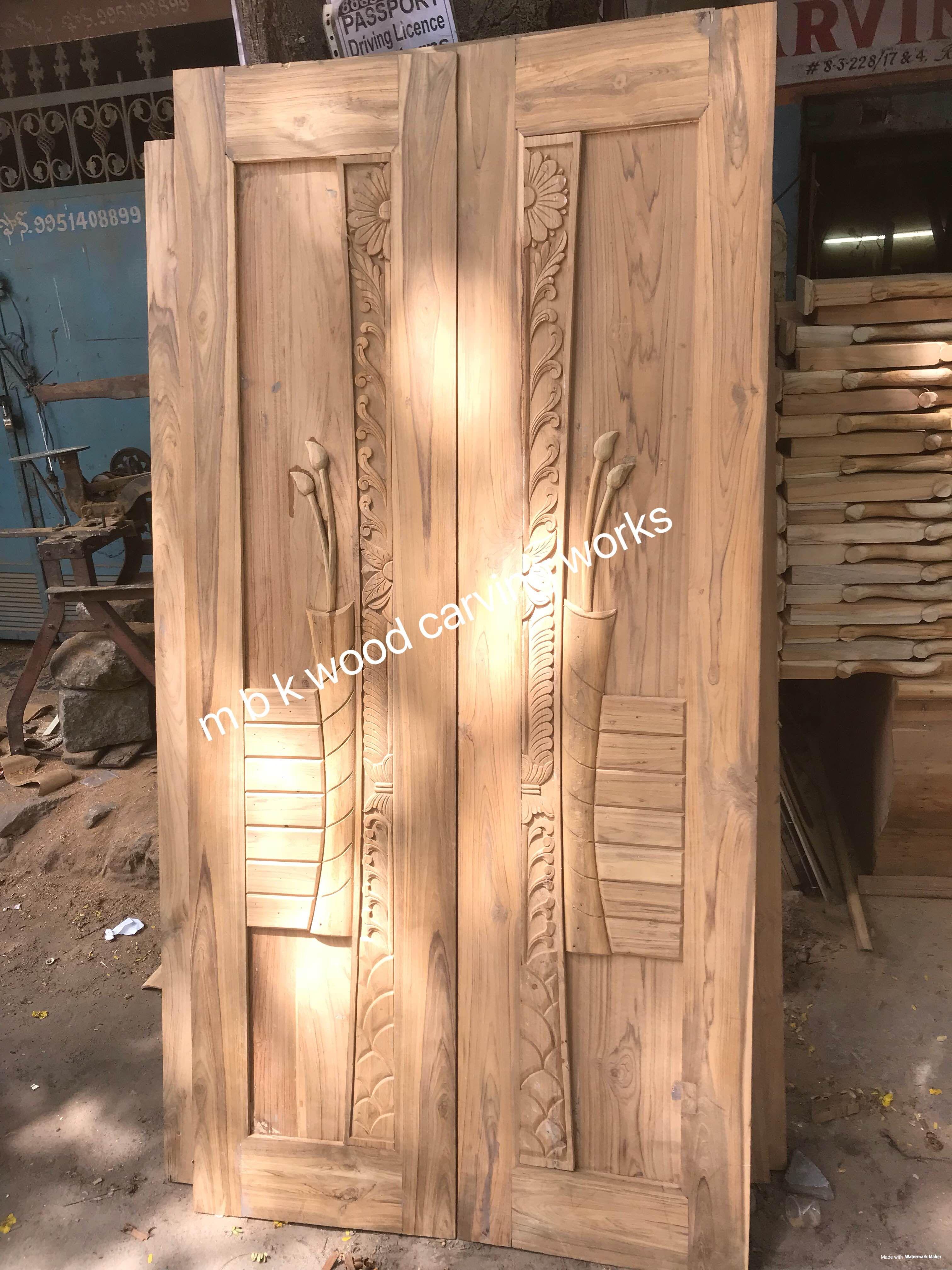 Mbk Wood Carving Works 08033016296 In Hyderabad India Double Door Design Main Entrance Wooden Doors Entrance Door Design