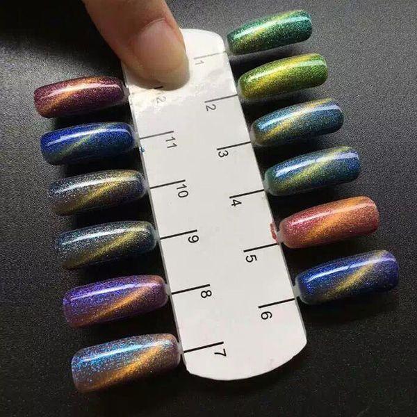 banggood, color changing, uv gel, nail art, nail polish, cat\'s eye ...