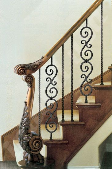 Best Mod 24 Carved Newel Post Combined With Scroll Series 400 x 300