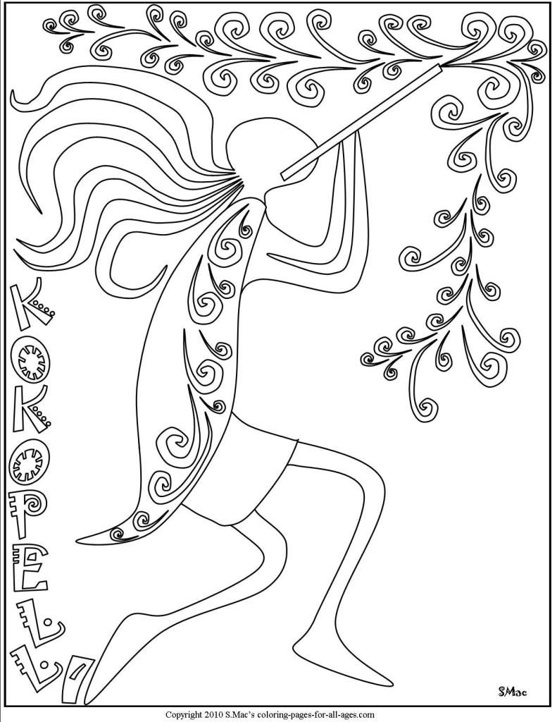 Kokopelli Coloring Pages S Mac S Place To Be Coloring Pages Pattern Coloring Pages Mandala Coloring Pages