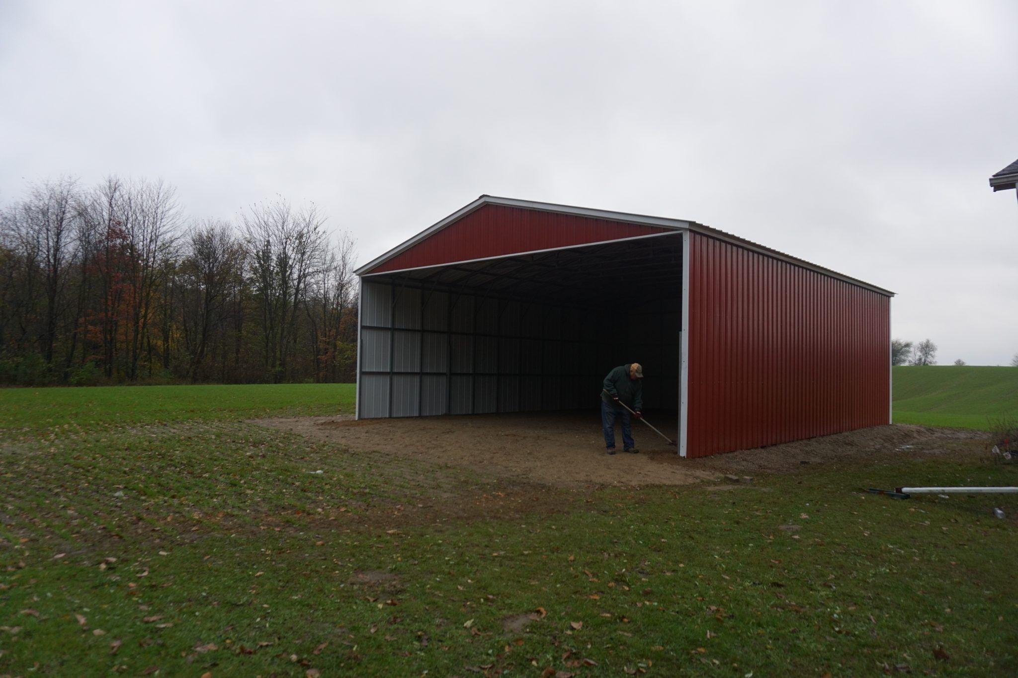 30x40x12 Steel Barn near Greenville, Michigan Steel