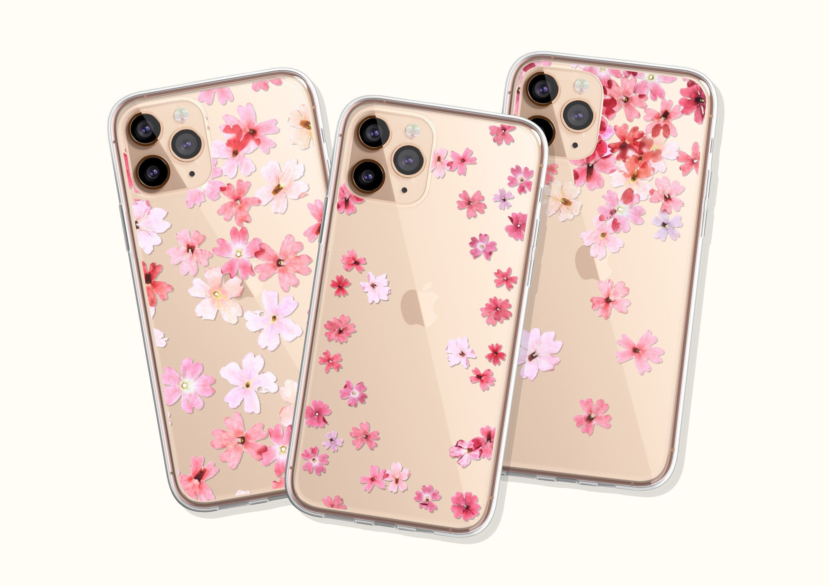 Pretty Pressed Flower Print Phone Case For iPhone 11 Pro