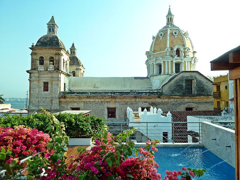 Church of St. Peter Claver in Cartagena, Colombia, where