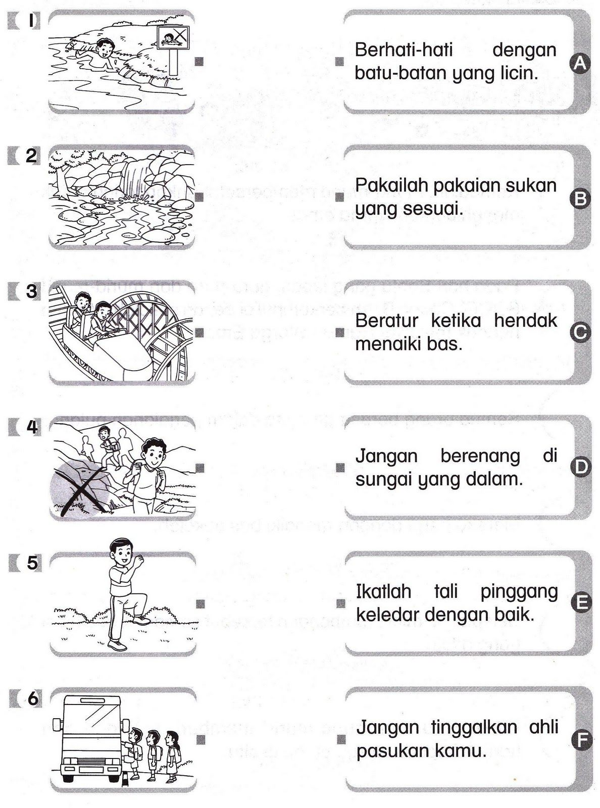 BAHASA MELAYU TAHUN 2: Latihan Dan Aktiviti   School kids activities [ 1600 x 1188 Pixel ]