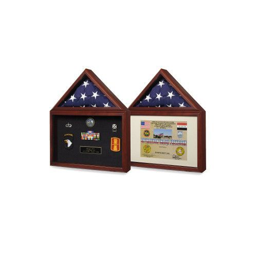 Flag plus certificate display case Hand Made By Veterans | Display ...
