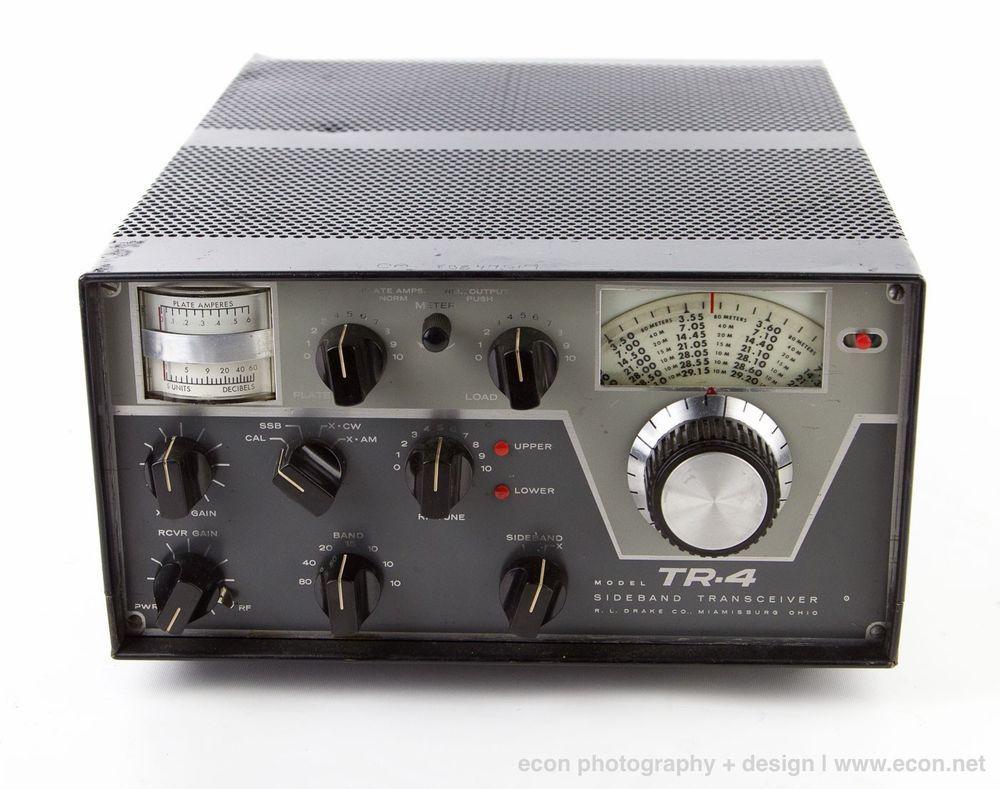 Vintage Drake Tr 4 Sideband Transceiver 10 80 Meters Tube Ham Radio Hf Cw Drake Radioamatori