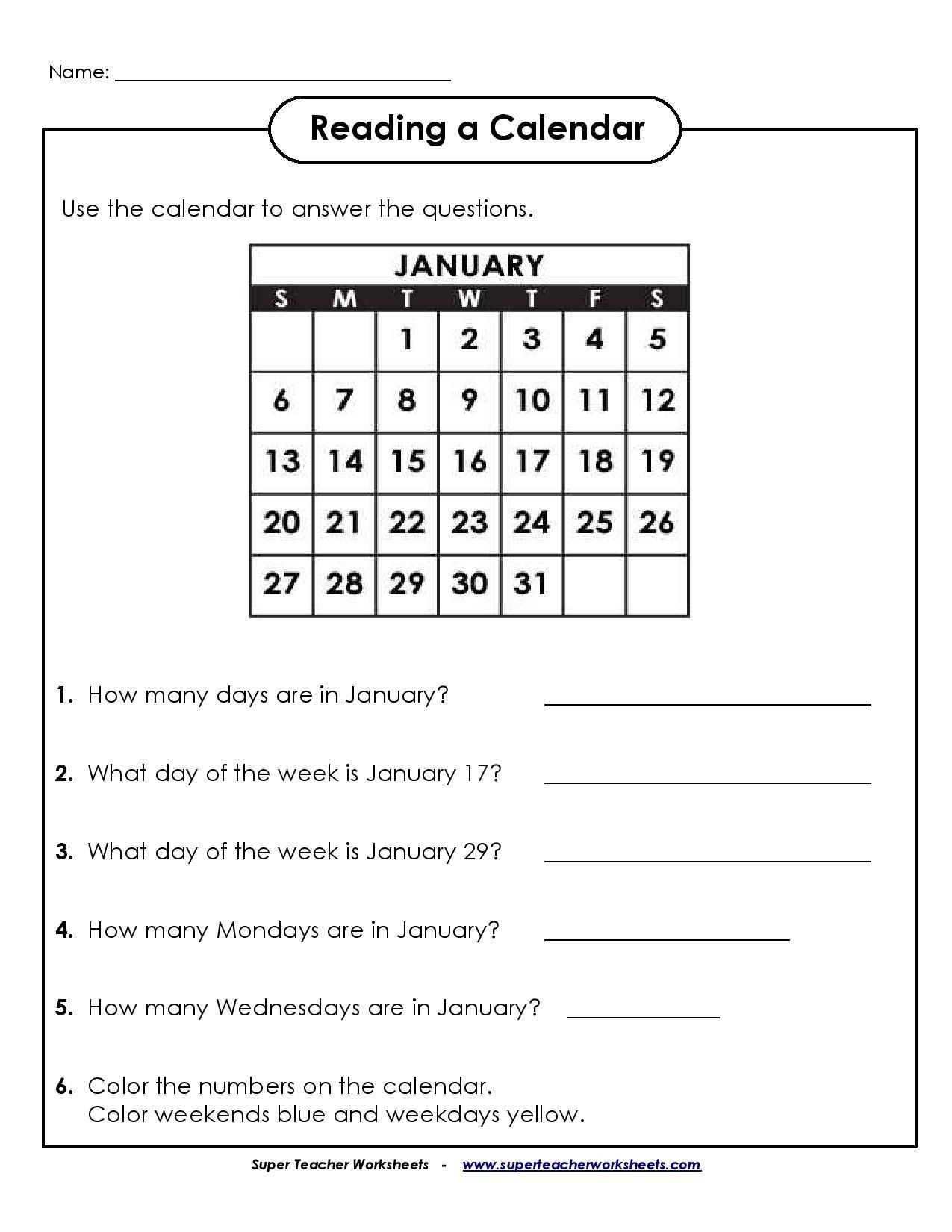 Calendar Worksheets for First Grade ✅ Best 2nd Grade Math Worksheet in  2020   Calendar math [ 1650 x 1275 Pixel ]