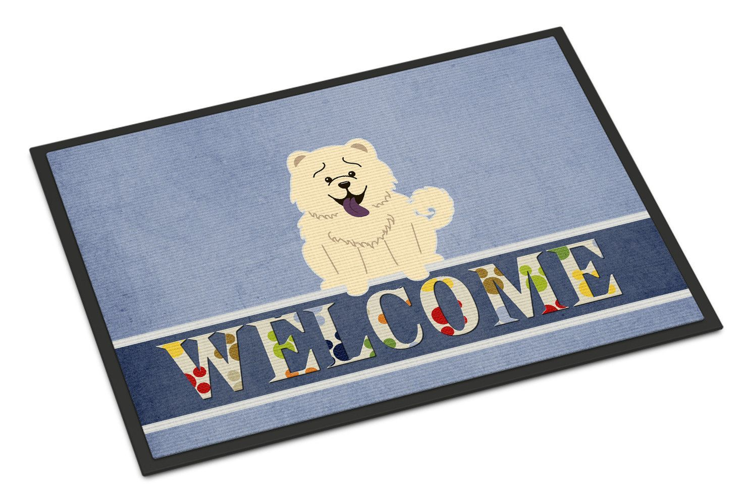 Chow Chow White Welcome Indoor or Outdoor Mat 18x27 BB5721MAT