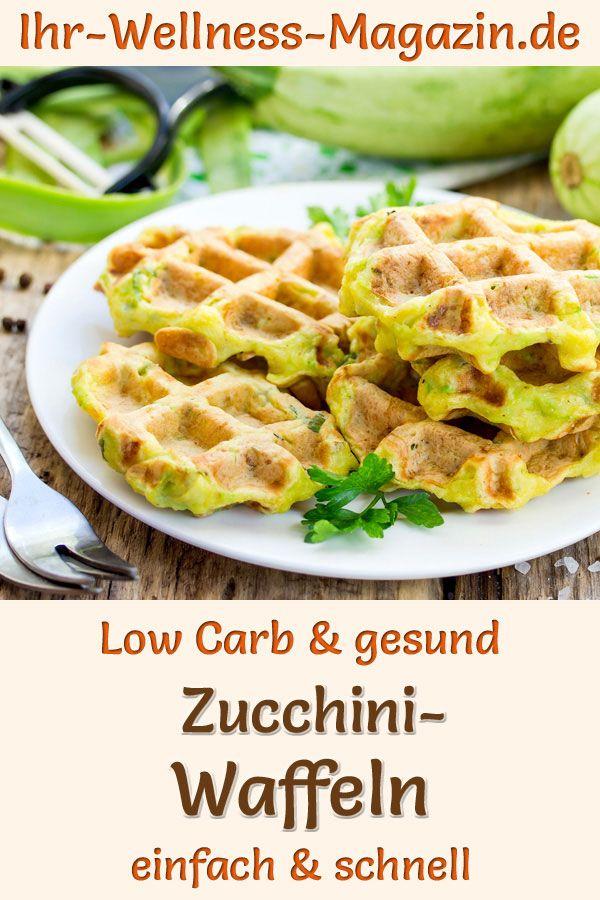 Low Carb Zucchini-Waffeln - gesundes Rezept fürs Frühstück