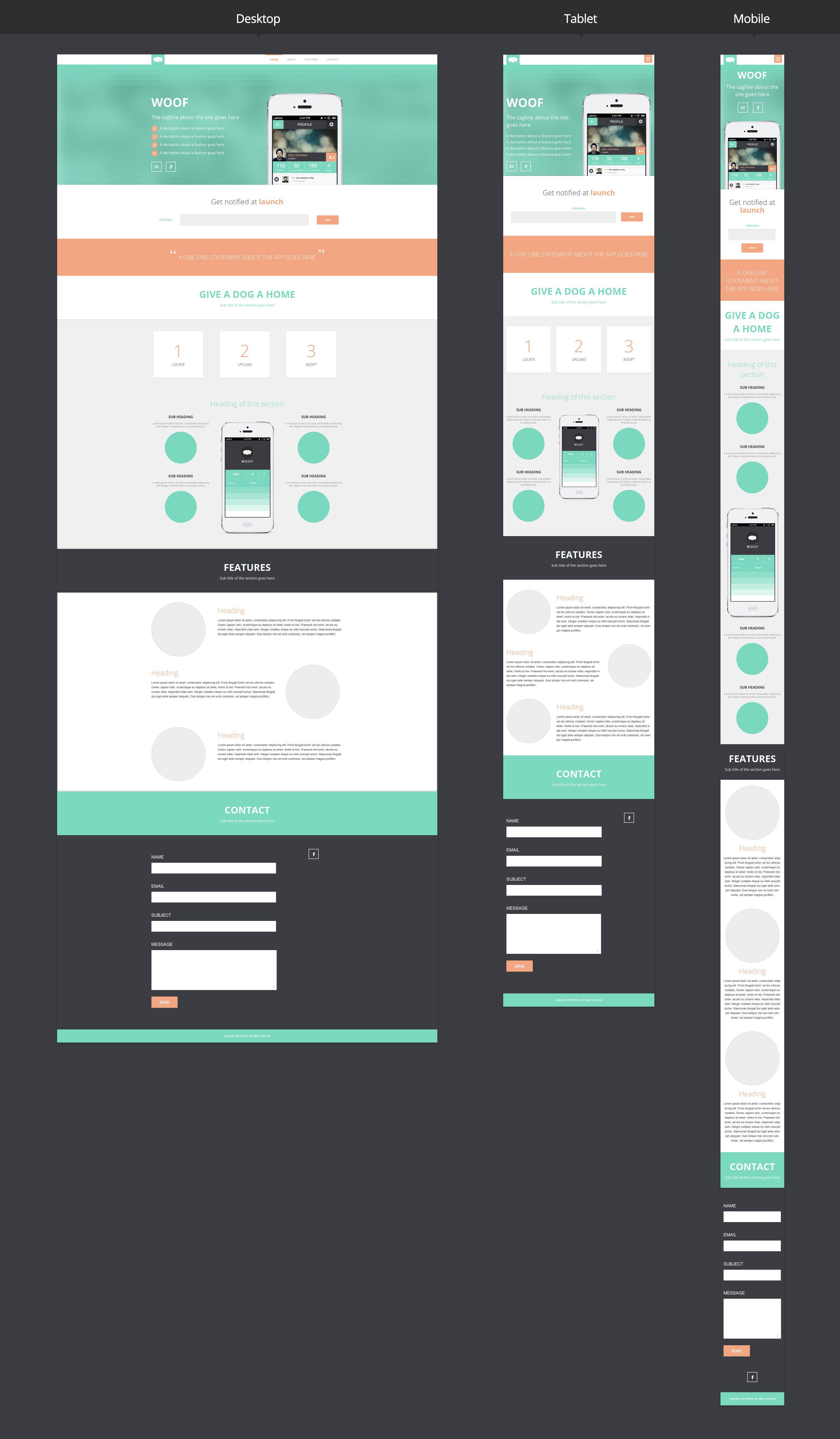 Dribbble Responsive Preview Jpg By Balraj Chana Web Layout Design Website Design Layout Responsive Web Design