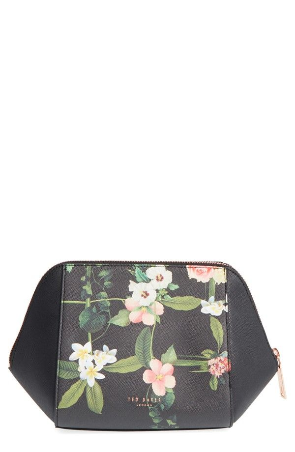 87e9062f7a1bfd Keep precious beauty items safe with this lightly structured makeup case  from Ted Baker. Lush hibiscus