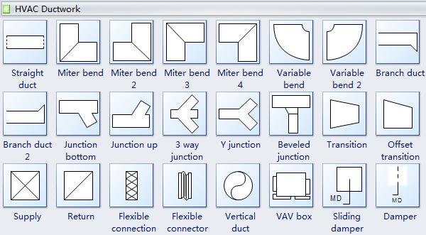 HVAC Ductwork Symbols | Hvac ductwork, Hvac, Duct work | Hvac Drawing Symbols |  | Pinterest