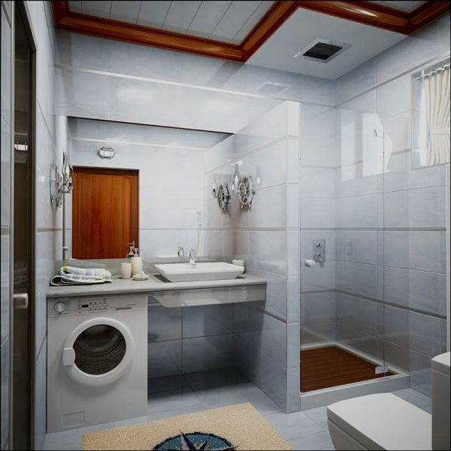 Ремонт ванной комнаты в «хрущевке» (136 фото) — дизайн для ...