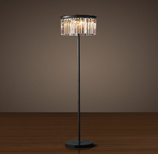 Photo of Rhys Clear Glass Prism Floor Lamp