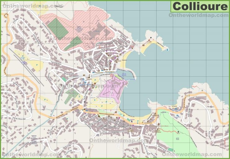 Large detailed map of Collioure Maps Pinterest France and City