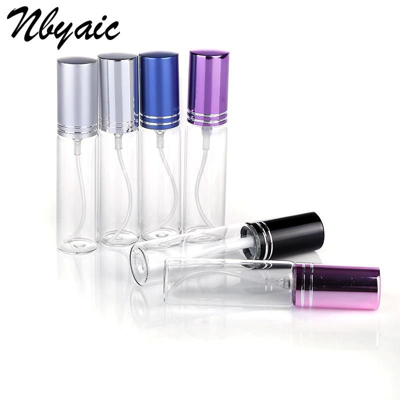 Nbyaic 1pcs 5ml 10ml Travel Portable Perfume Bottle Spray Bottles Sample Empty Containers Atomizer Refillable Perfume Refillable Perfume Bottle Perfume Bottles