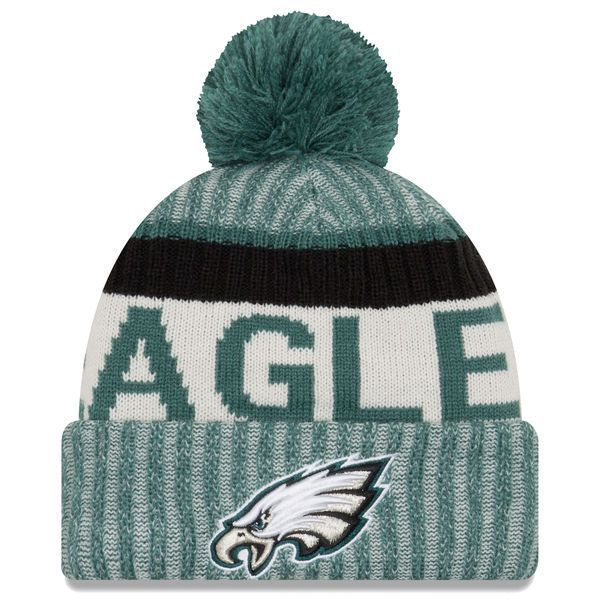 9d197098b1bac 2017 NFL Sideline Philadelphia Eagles On Field Sport Knit Beanie Winter Hat.  Philadelphia Eagles New Era Green ...