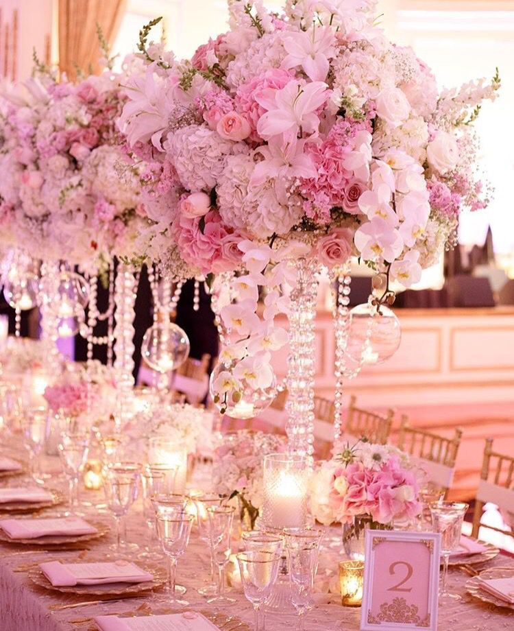 David Tutera Wedding Centerpiece Ideas: Pretty In Pink And Crystals By David Tutera