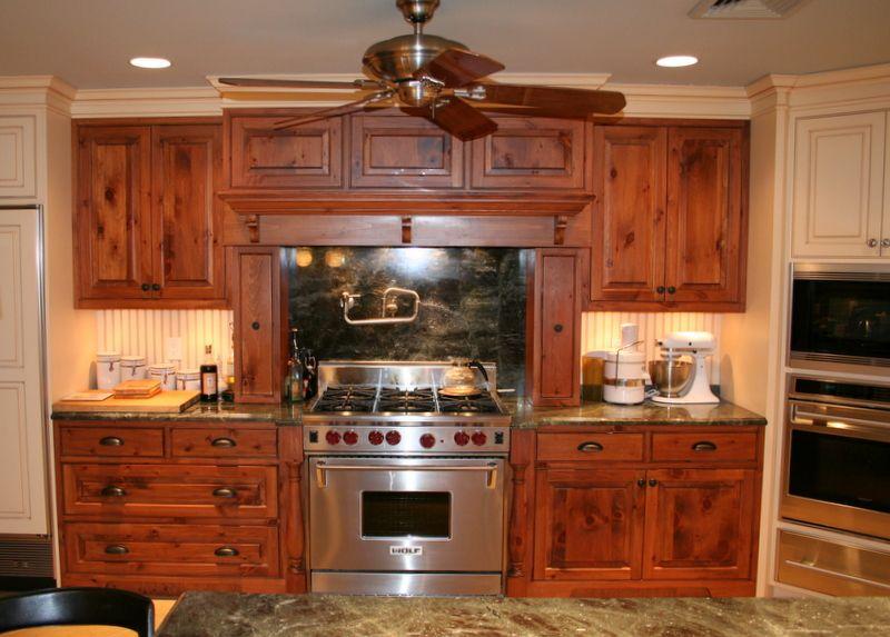 Custom Ranch. Knotty Pine Cabinets