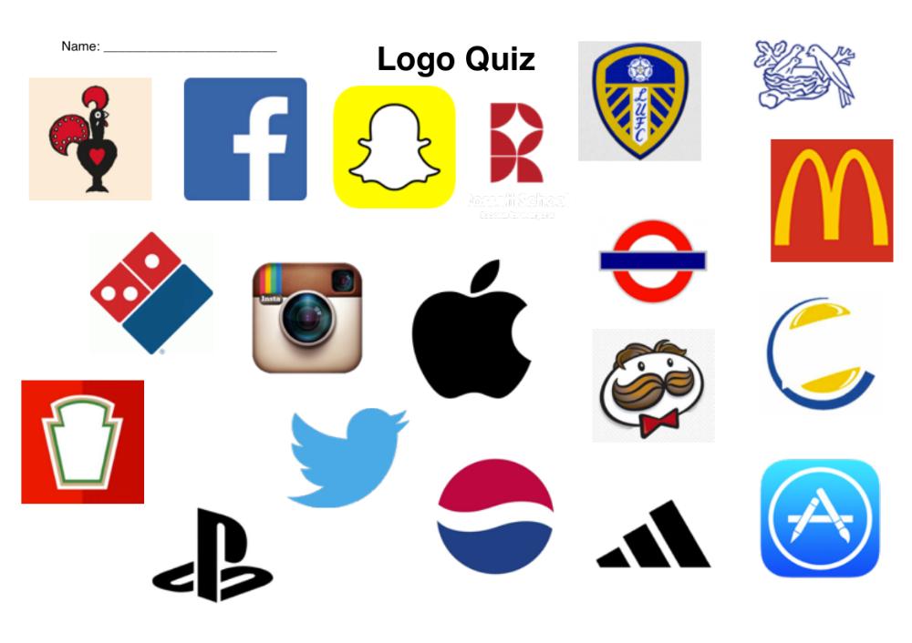 Pin by SLK on Art GCSE in 2020 Logo quiz, Graphic design