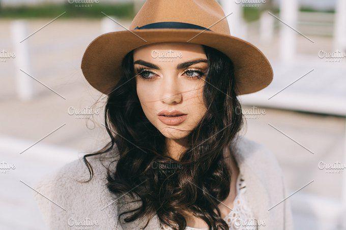 Beautiful Hippie Woman Photos Beautiful Sexy Woman In Hat