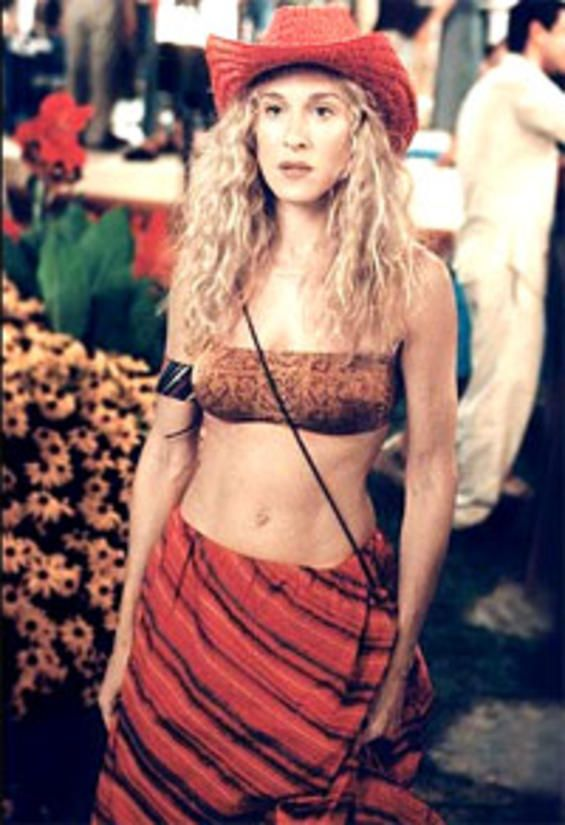 """Carrie Bradshaw - """"20-something girls are just wonderful until you see one with the man who broke your heart"""".  Tear-jerker episode."""