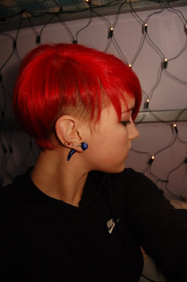 Short red hair by charlottelucyy haircuts pinterest side