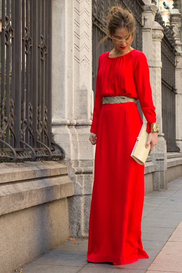 Vestidos de fiesta para bodas rojos