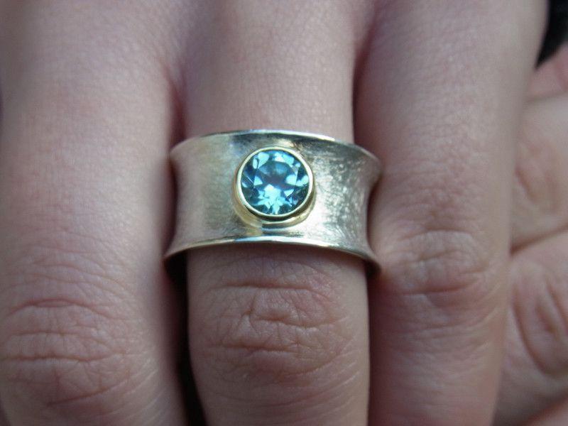 """Ring """"Himmelblau"""" (Topas) von GoldschmiedeNorwinVitten auf DaWanda.com"""