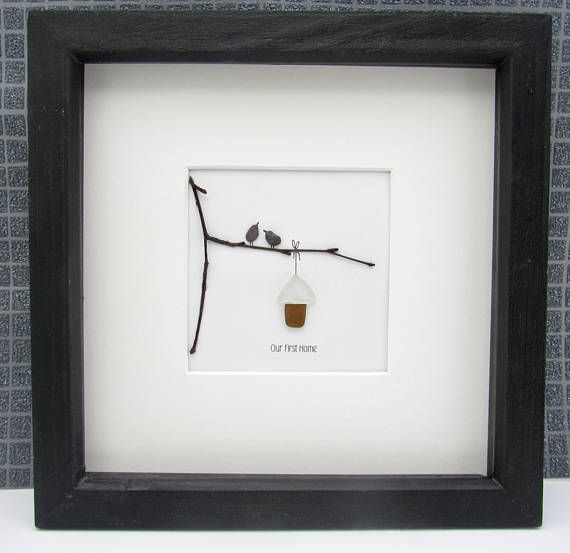 Our First Home This delightful frame is made from pebble sand sea ...