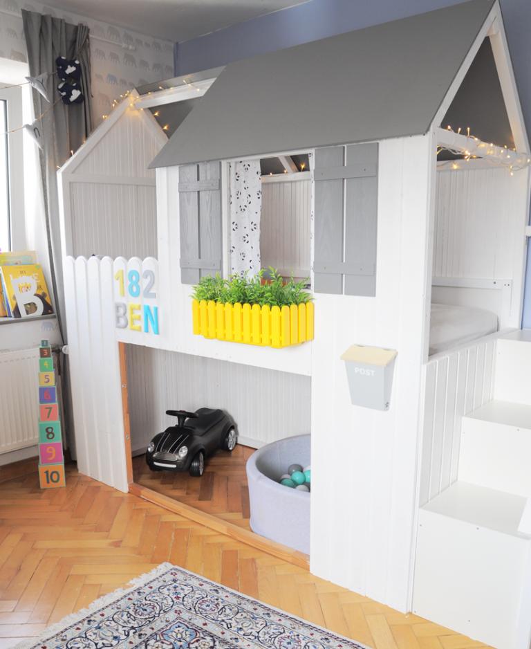 hausbett diy anleitung zum bau eines ikea kura hacks mit treppe milfcaf hochbett 2te. Black Bedroom Furniture Sets. Home Design Ideas