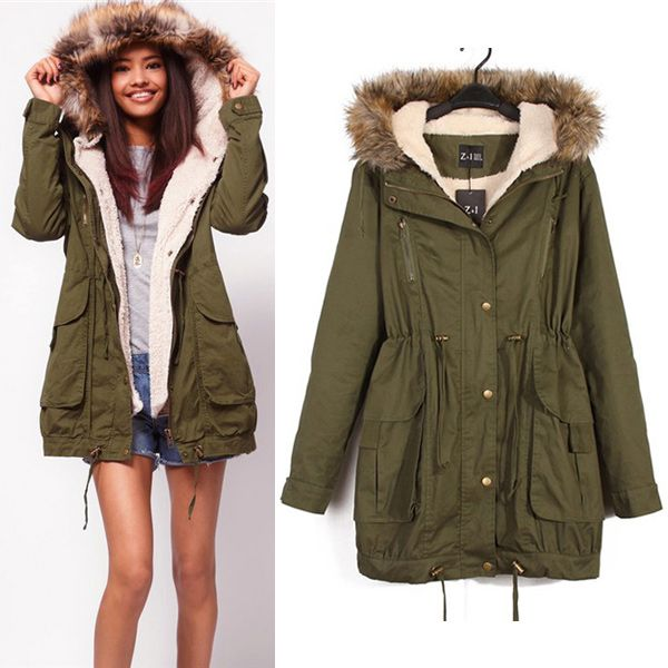 Jacken parka damen